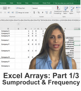 Learn complex array formulas in excel