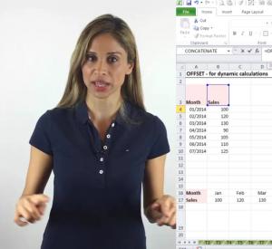 Excel offset formula