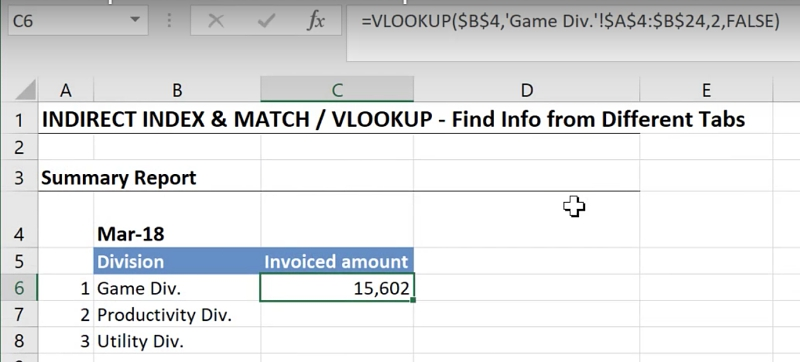 Easy way to lookup values across multiple worksheets in excel however when this formula is pulled down to c8 we get the same value since our tab is fixed to game div ibookread ePUb