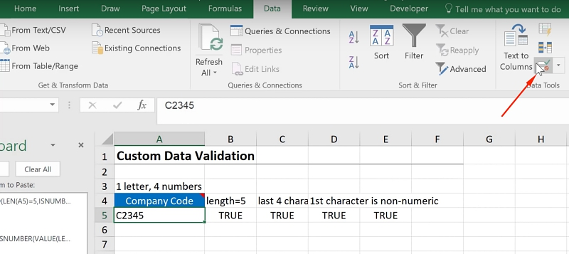 Excel Custom Data Validation - Xelplus - Leila Gharani