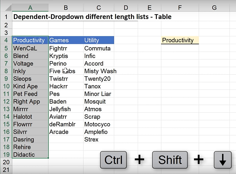 Expandable Conditional Drop Down Lists in Excel - Xelplus - Leila