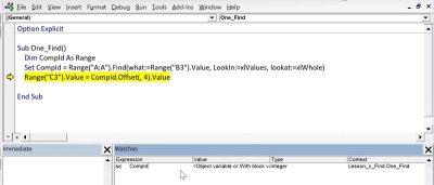 Excel VBA FIND Function - Xelplus - Leila Gharani