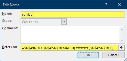 Combobox Edit Values