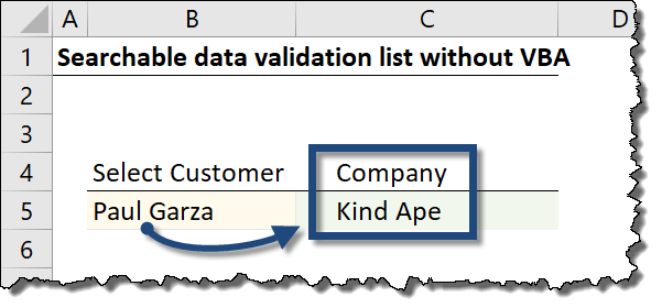 Searchable Drop Down List in Excel (Very Easy with Dynamic Arrays