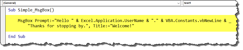 How to use the Message Box in Excel VBA - Xelplus - Leila