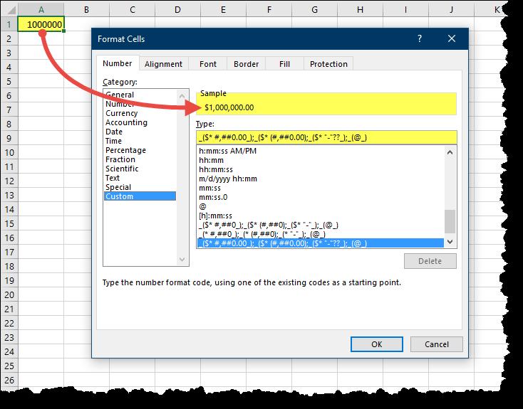 Learning Excel Custom Number Formatting - Xelplus - Leila Gharani