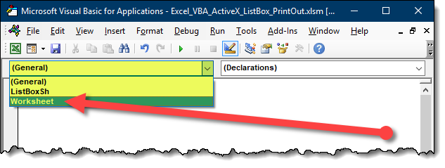 Excel List Box to Display & Print Multiple Sheets as ONE Print Job