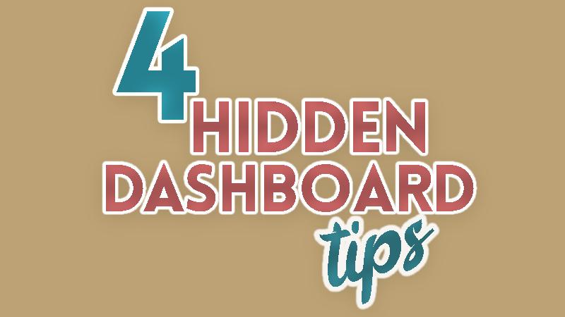 4 hidden excel dashboard tips