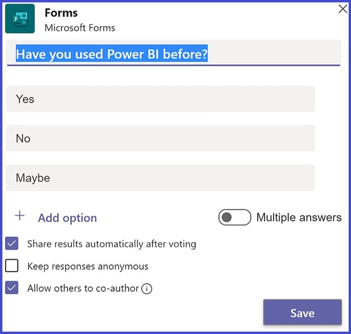 Microsoft Teams - Poll Details