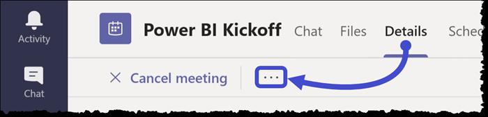 Microsoft Teams - Meeting Options