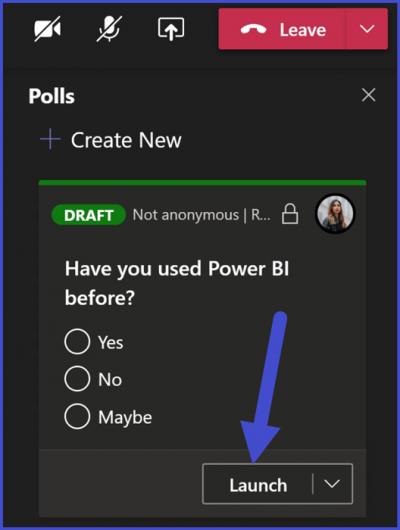 Microsoft Teams - Poll Response