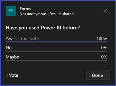 Microsoft Teams - Poll Results