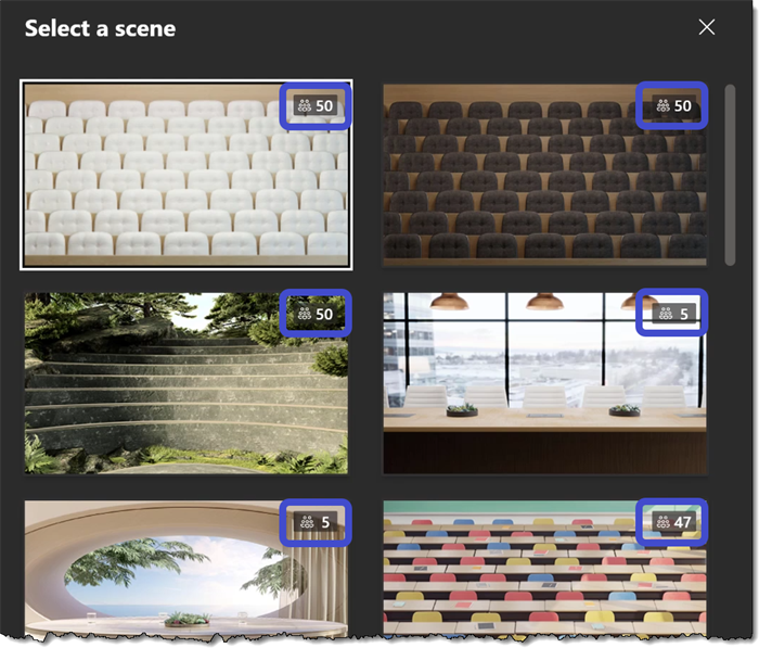 Microsoft Teams - Together Mode Select Scene
