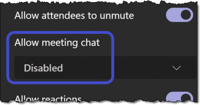 Microsoft Teams - Disable Chat