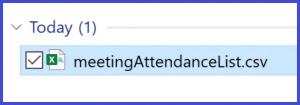 Microsoft Teams - Attendance List File