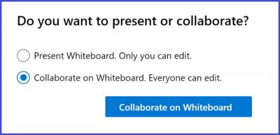 Microsoft Teams - Whiteboard Collaboration Settings