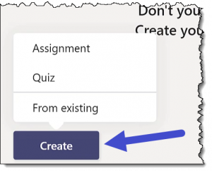 Microsoft Teams - Create Assignment