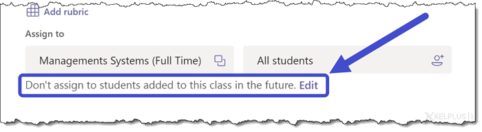 Microsoft Teams - Assignment Future Students